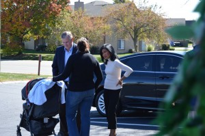 Mayor Ballard and wife Winnie talking to a guest